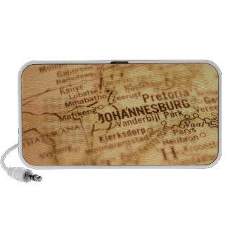 JOHANNESBURG Vintage Map Doodle Travelling Speaker
