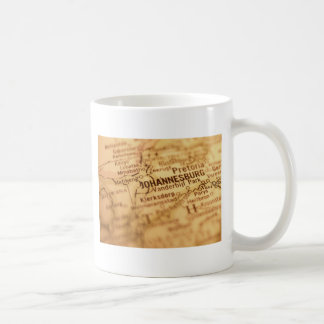 JOHANNESBURG Vintage Map Mug