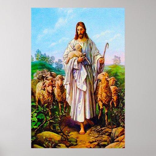 John 10:7-21 I Am the Good Shepherd Poster