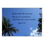 John 13:35 greeting card