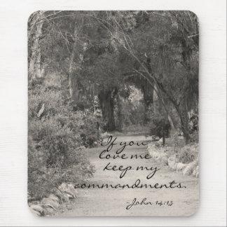 John 14:15 path photo mouse pad