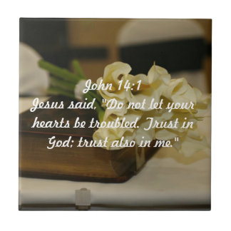 John 14:1 Trust in God verse Tile