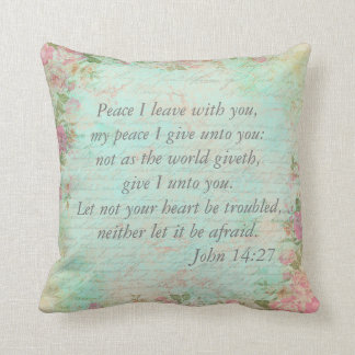 John 14:27   Bible Verse Custom Christian Gift Cushion