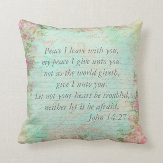 John 14:27 Bible Verse Custom Christian Gift Cushion