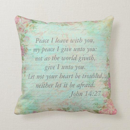 John 14:27 Bible Verse Custom Christian Gift Throw