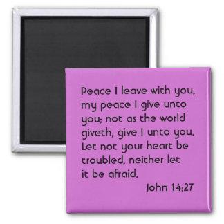 John 14:27 square magnet