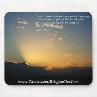 John 14:27  Sunrise Mouse Pad