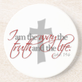 John 14:6 beverage coasters