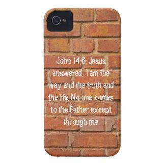 John 14:6 Brick Wall Case Mate iPhone 4/4s Case.