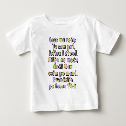 John 14:6 Croatian Baby T-Shirt