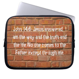John 14:6 Neoprene Laptop Sleeve 10 inch