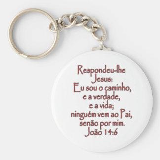 John 14:6 Portuguese Key Ring