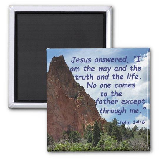 John 14:6 square magnet
