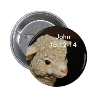 John 15:12-14 Lamb Button