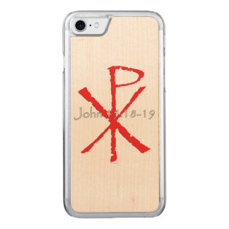 John 15:18-19 carved iPhone 7 case