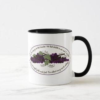 John 15:5 Bible Verse Grapes Mug