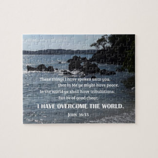John 16:33 These things I have spoken unto you Jigsaw Puzzle
