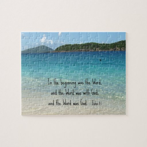 John 1:1 In the beginning was the Word... Jigsaw Puzzle