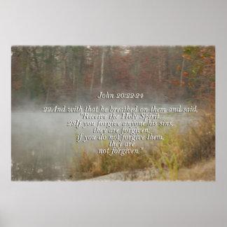 JOHN 20:22 -24 FORGIVE / FORGIVENESS POSTER