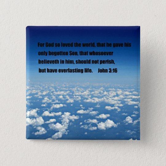 John 3:16 15 cm square badge
