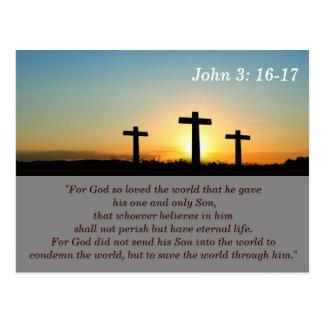John 3:16-17 Scripture Memory Card