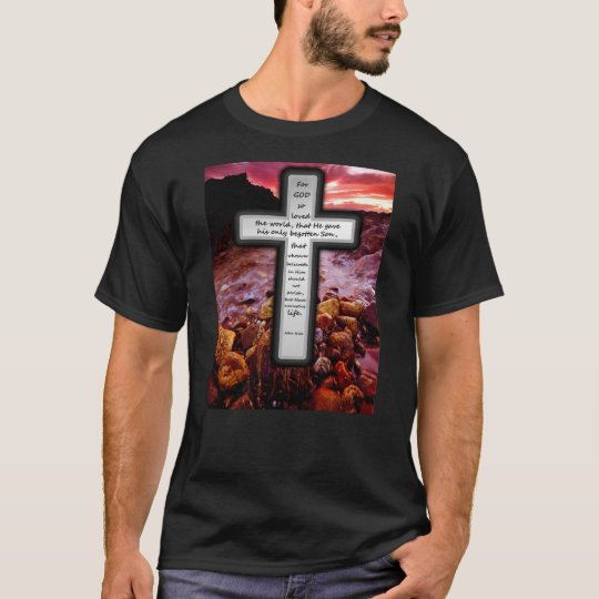 John 3:16 Basic Dark T-shirt