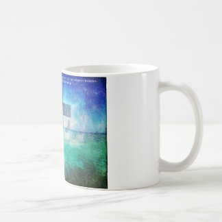 John 3:16 Bible Quote words with Contemporary art Coffee Mug