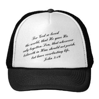 John 3:16 Bible Verse (KJV) Mesh Hat