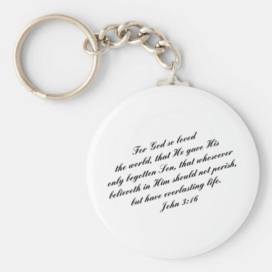 John 3:16 Bible Verse (KJV) Key Ring