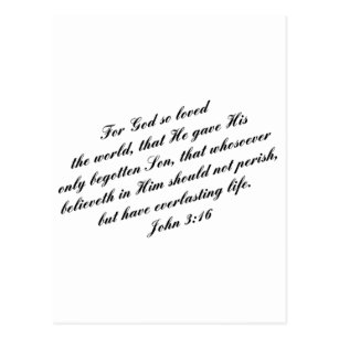 John 3 16 Postcards Zazzle Uk