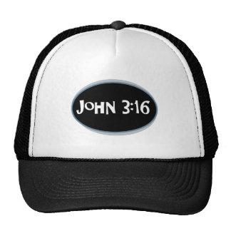John 3:16 Blue Trucker Hats