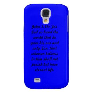 John 3:16 Blue Case-Mate Tough™ iPhone 4 Cases