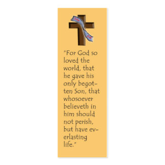 John 3:16 Bookmark Pack Of Skinny Business Cards