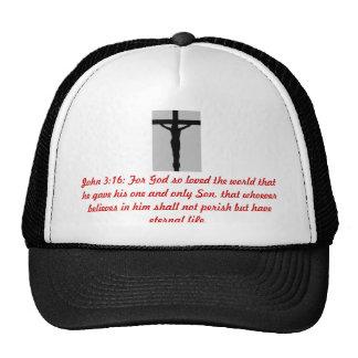 JOHN 3:16 Christ on the Cross Truckers Mesh Cap
