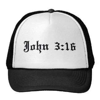 John 3:16 christian bible verse hats