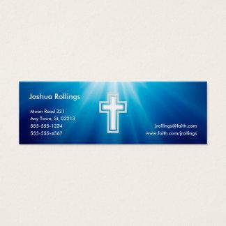 John 3:16 - Christian   Blue Rays Mini Business Card