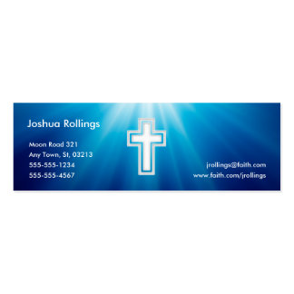 John 3:16 - Christian | Blue Rays Pack Of Skinny Business Cards