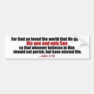 John 3 16 Christian Bumper Sticker