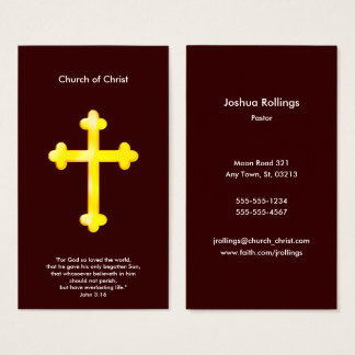 John 3:16 - Christian Cross Business Card