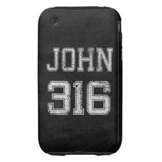 John 3:16 Christian Football Sports Fan iPhone 3 Tough Covers