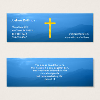 John 3:16 - Christian Mini Business Card
