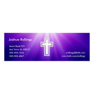 John 3:16 - Christian | Purple Rays Pack Of Skinny Business Cards