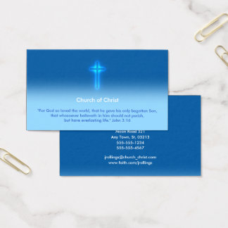 John 3:16 - Church of Christ Business Card