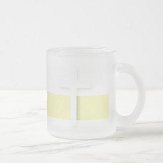 John 3:16 Cross Frosted Glass Coffee Mug