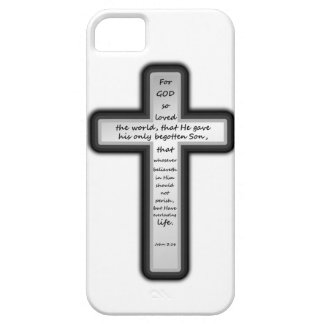 John 3:16 Cross Only iPhone 5 Cover