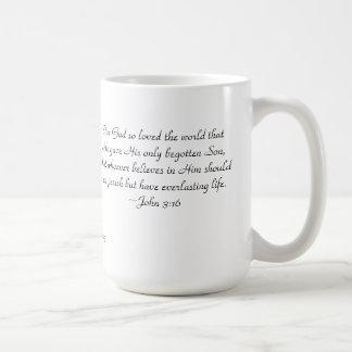 "John 3:16 Cup, ""For God so loved..."" Coffee Mug"