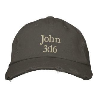 John 3 16 embroidered baseball cap
