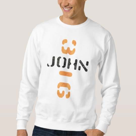 John 3.16 en croix Noir Orange Sweatshirt