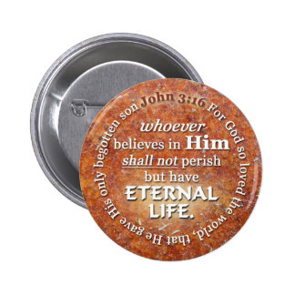 John 3:16 For God So Loved The World Bible Verse 6 Cm Round Badge
