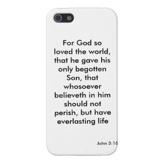 John 3:16 For God So Loved the World iPhone 5 Cover